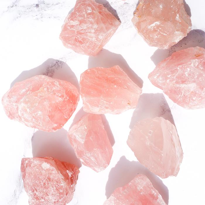 Rose Quartz Rough Cut Crystal - luna-stella.co.uk